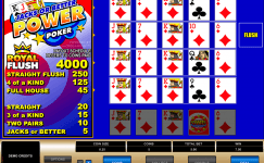 jacks or better 4 play power poker