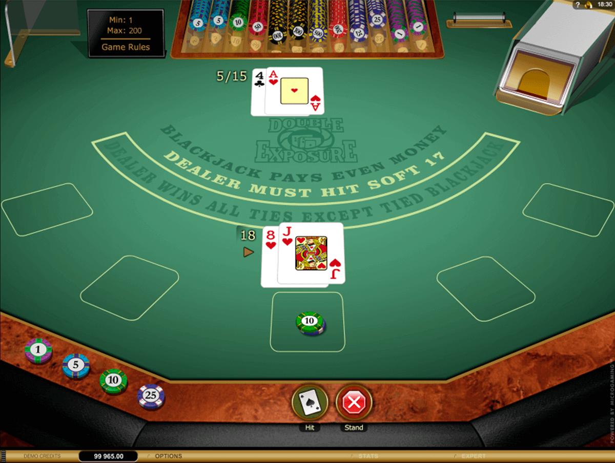 Double Exposure Blackjack Gold