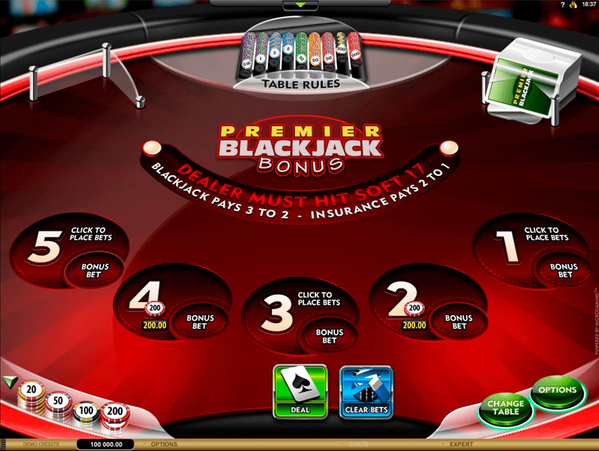 Premier Blackjack Multi-Hand Euro Bonus Gold
