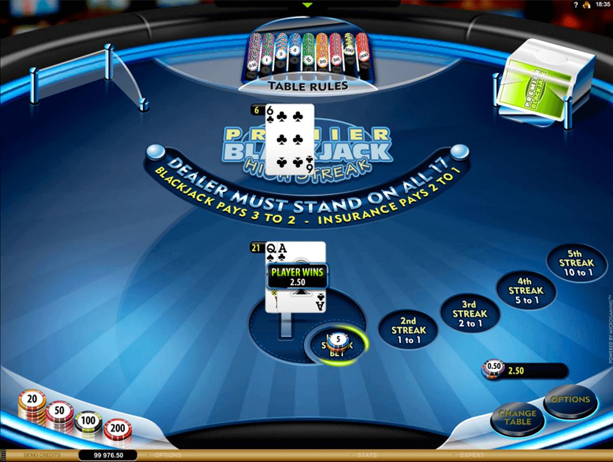 Premier High Streak Blackjack